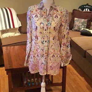 Robert Graham shirt long sleeved geometric floral